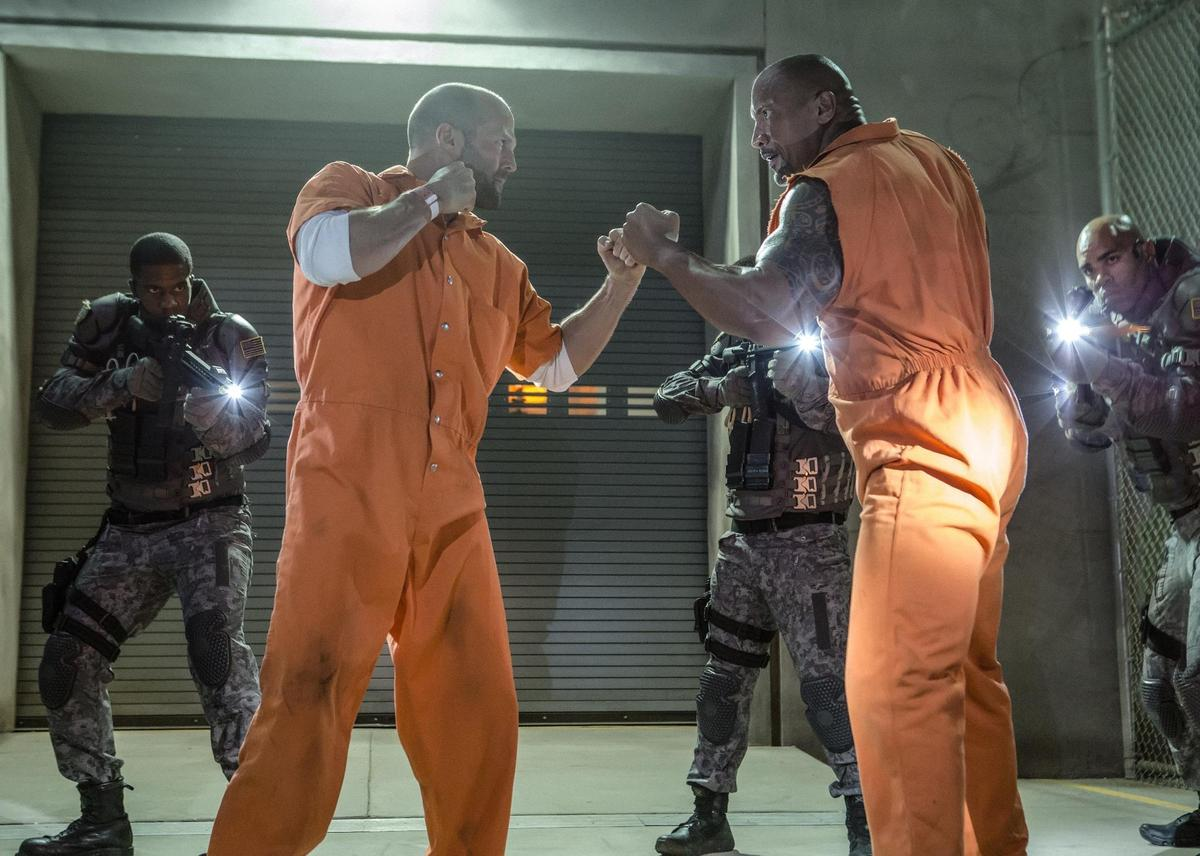 戴克蕭跟哈柏在《玩命關頭8》依然針鋒相對,也種下了《玩命關頭:特別行動》的根基。(UIP提供)