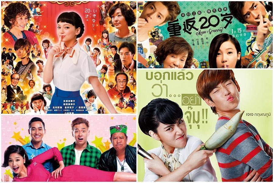 《回到20歲》已拍出中國大陸(右上圖)、日本(左上圖)、越南(左下圖)及泰國版(右下圖),證明打動人心的故事不分國籍都能創造好票房。(翻攝自Daum網站)