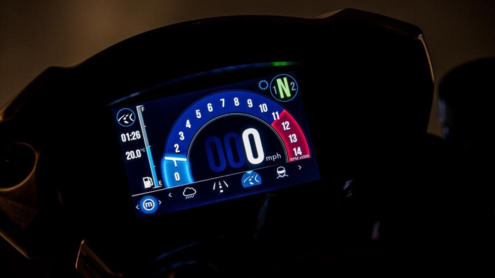 搭載TFT全彩液晶儀表板,豐富的介面能夠顯示各項車輛資訊。