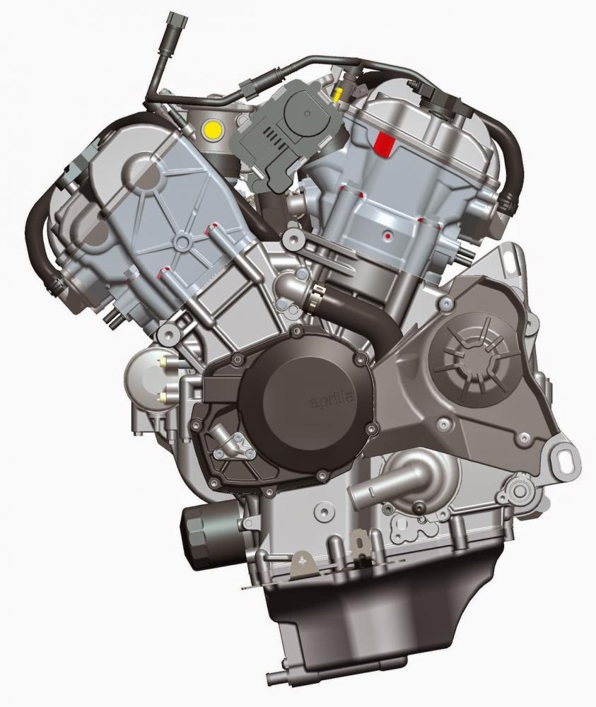 APRILIA的V4引擎為65度夾角設計。
