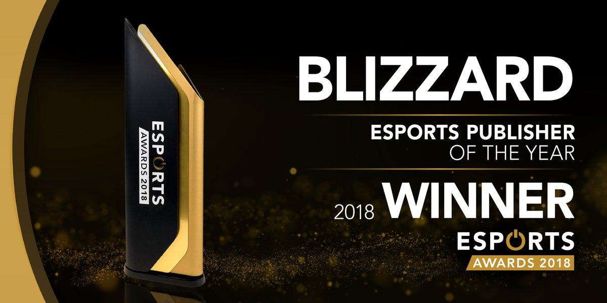 暴雪娛樂獲得Esports Awards年度最佳電競發行商。延伸閱讀:「暴雪娛樂成最大贏家 狂掃Esports Awards三項大獎」