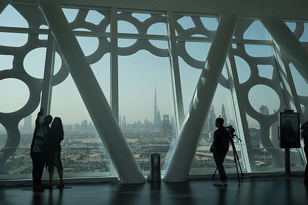 杜拜之框南邊可看見杜拜城市新景觀 (圖/Dubai Municipality)