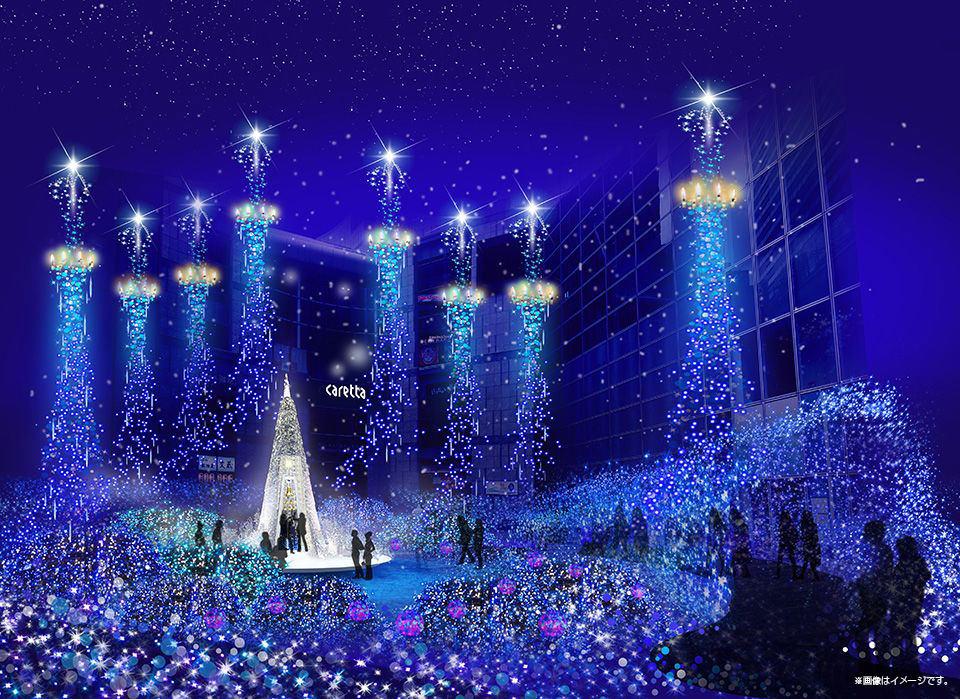 25萬顆LED打造如星光般燦爛的光之溪谷,打造浪漫聖誕。(圖片來源/caretta)
