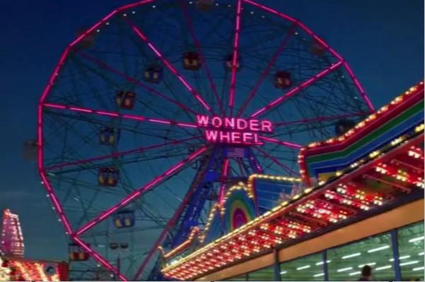 在「愛情摩天輪」片中的摩天輪2018年過97週年生日。(圖/Deno's Wonder Wheel Park)
