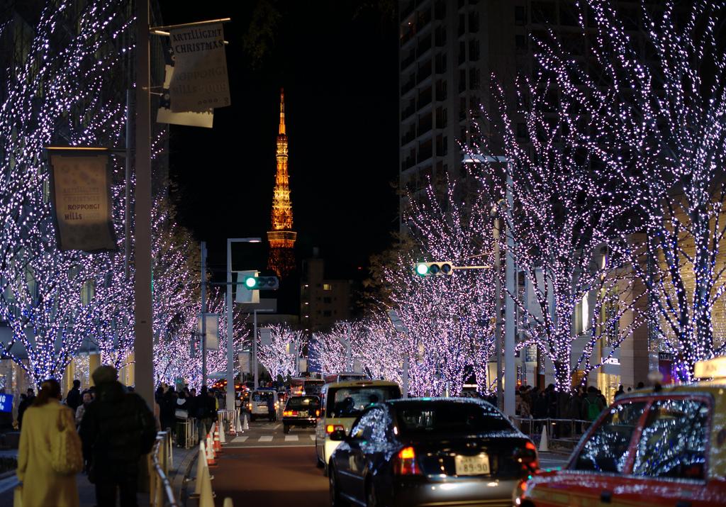 每年都會舉辦的六本木Artelligent冬季彩燈,使用了百萬顆LED點綴街道。(圖片來源/japanesesearch)