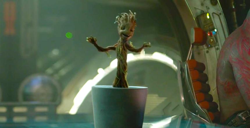 電影《星際異工隊》裡的樹人小格魯特,跳起舞來萌壞了一批Marvel迷。圖片來源:Reddit
