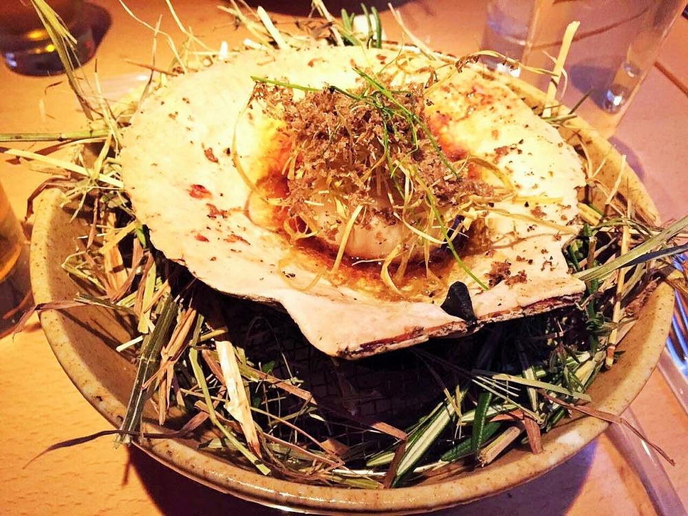 日本料理的烤干貝,鮮嫩可口讓張棋惠相當難忘。
