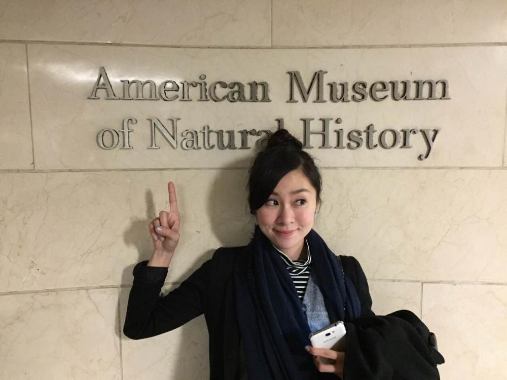 進入歷史博物館,張棋惠笑說有一種在電影裡探險的感覺。