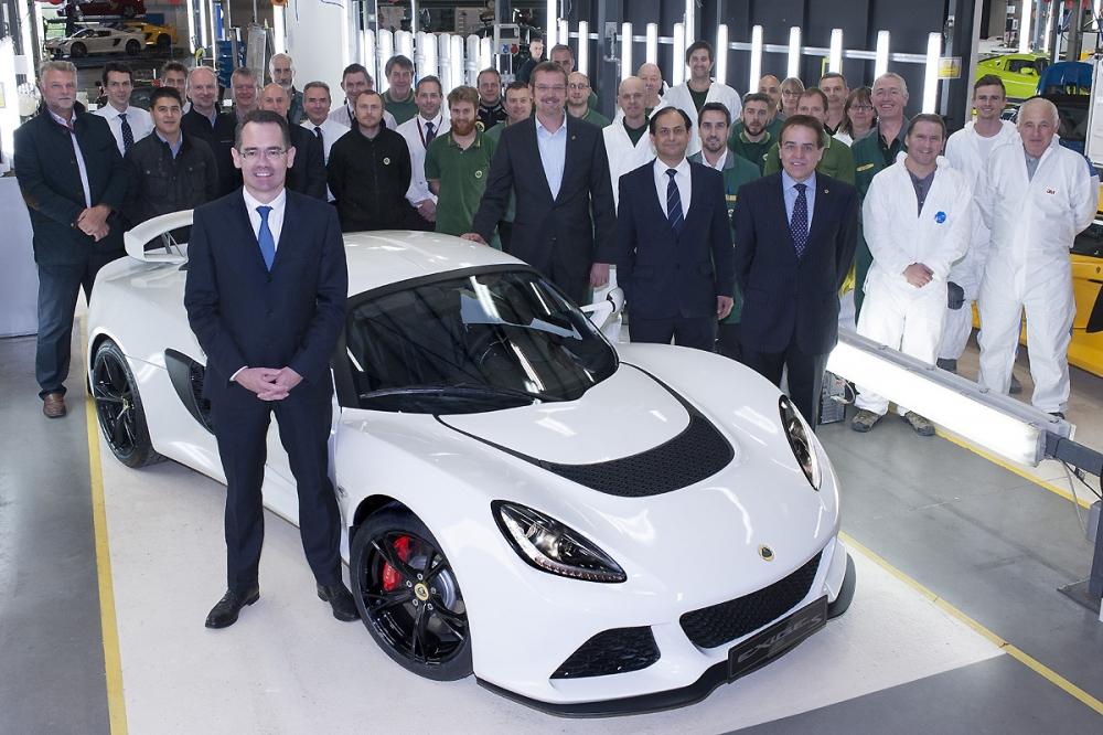 Jean-Marc Gales進入Lotus Cars任職約半年的時間,第1,000輛的Exige S便駛下了Hethel生產線。