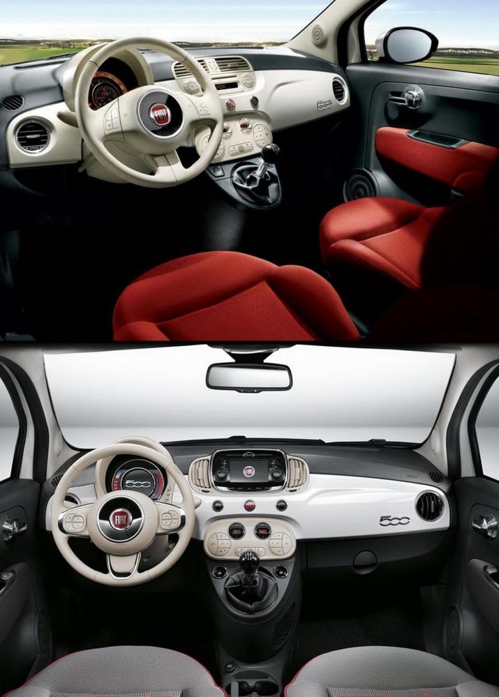 ▲上為2007年 第二代Fiat 500;下為2015年 第三代Fiat 500