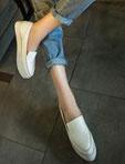 休閑尖頭小白鞋