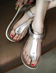 金屬光感柏肯涼鞋