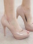 裸色魚口高跟鞋