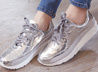 熱銷金屬感休閒鞋
