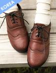牛津雕花繫帶紳士鞋