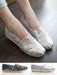 燙銀豹紋印花懶人鞋
