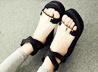 楔型厚底涼鞋