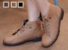 MIT反褶綁帶短靴
