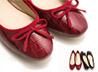 鱷紋朵結娃娃鞋