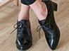 鱷魚紋亮皮牛津鞋