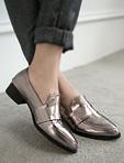 金屬漆皮紳士鞋