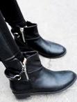 時尚拉鏈短靴