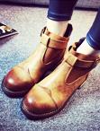復古單扣馬丁靴