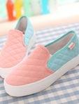 春款粉嫩休閒帆布鞋