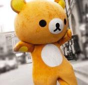 拉拉熊人偶服