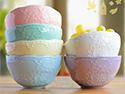 6色法式浮雕蕾絲碗
