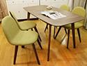 輕北歐伸縮餐桌椅組