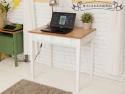 精巧法式古典書桌(雙抽原木)