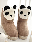 可愛熊貓雪靴