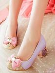 韓系水鑽蝴蝶結包鞋