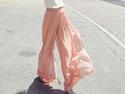 雪紡高腰長褲裙褲