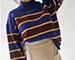 高立領條紋毛衣