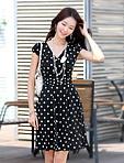韓版氣質原點傘狀洋裝