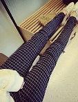 英倫風格紋小腳褲