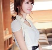 韓空運雪紡洋裝