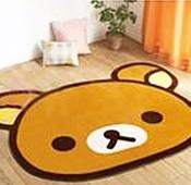 拉拉熊大臉地毯