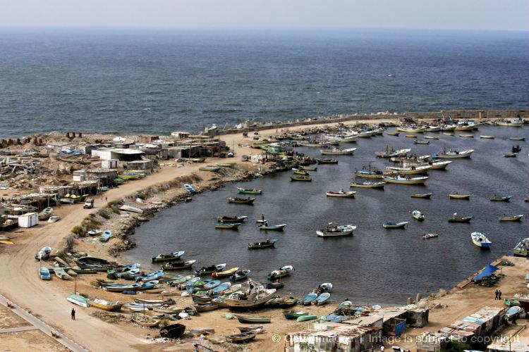 GAZA CITY, GAZA STRIP - OCTOBER 15: General view of the seaport  on October 15, 2008 in Gaza city, Gaza Strip.