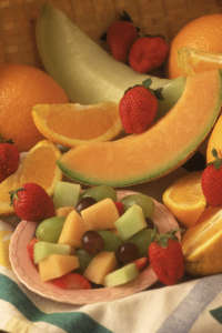 Fruit salad and assorted fruits