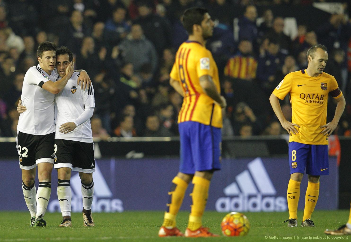 خلاصه بازی والنسیا 1-1 بارسلونا