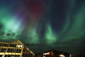 Un Aurora Borealis este văzut în nordul Norvegiei
