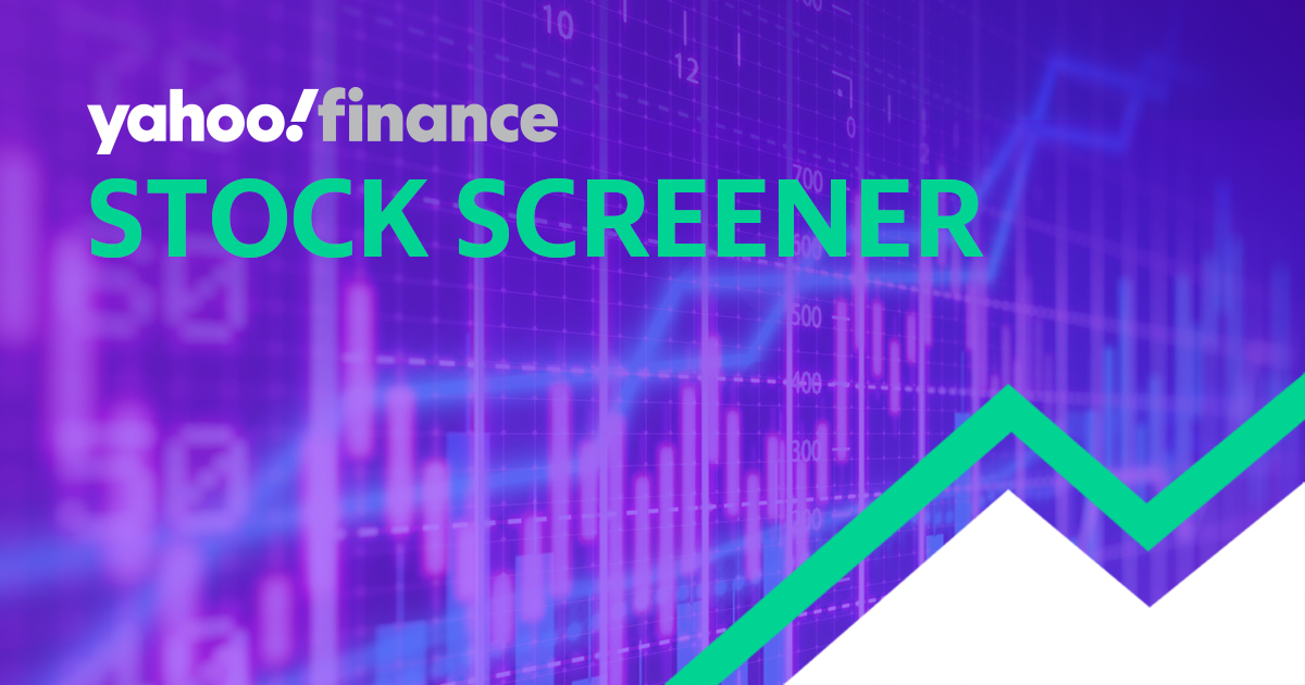 Stock Screener - Yahoo Finance