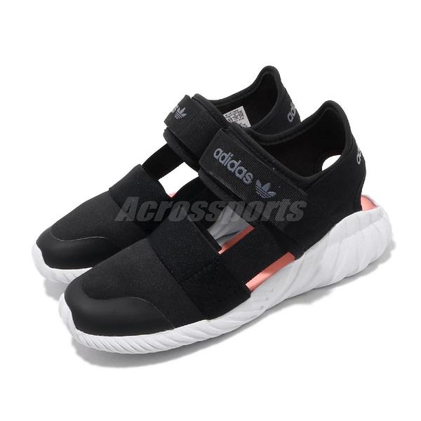 adidas 涼拖鞋 Doom Sandal C 黑 白 童鞋 中童鞋 運動鞋 【PUMP306】 FV7600