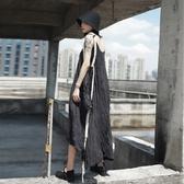 無袖背心裙-長款簡約純色個性有型壓皺女連身裙73sl27【巴黎精品】