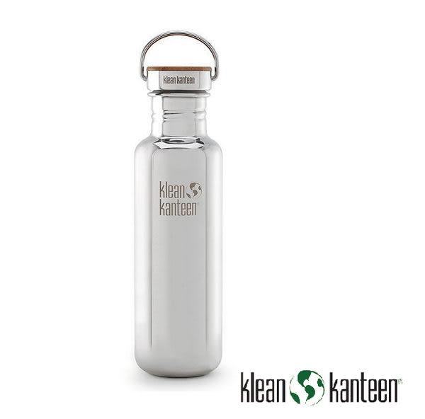 Klean Kanteen  Reflect 特別版-竹片鋼蓋 不銹鋼瓶 27oz/800ml 鏡面鋼 K27SSLRF