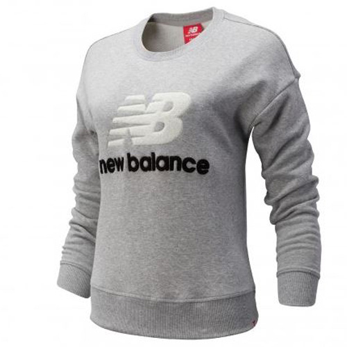 New Balance 女裝 長袖 休閒 棒球 LOGO 灰【運動世界】AWT93548AG