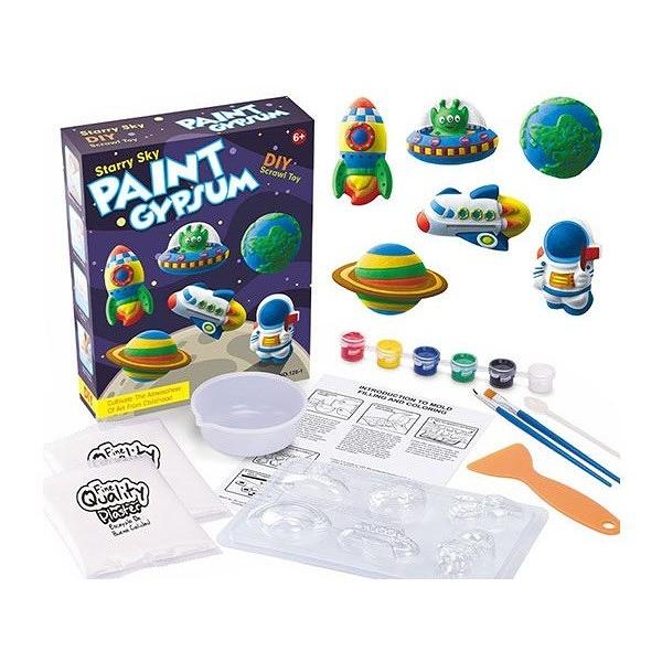 兒童DIY創意石膏彩繪(1入) 款式可選 內容配件顏色隨機出貨【小三美日】